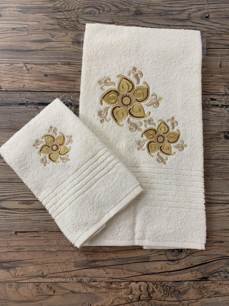 Blumen Handtuch